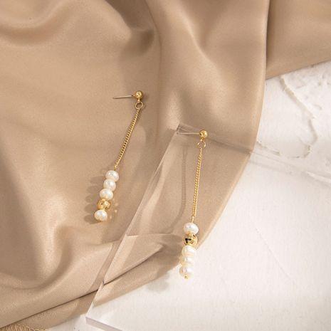 Nuevos pendientes populares de la joyería Pendientes de Corea S925 pendientes de perlas de aguja de plata al por mayor nihaojewelry NHQS234571's discount tags