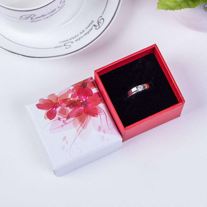 Exquisite color printed small gift box literature and art small gift packaging box necklace wholesale nihaojewelry NHIM234587