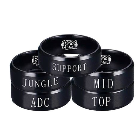Game animation around titanium steel ring League of Legends ring LOL ring team ring wholesale nihaojewelry NHIM234594's discount tags