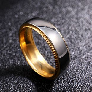 6mm classic couple ring titanium steel couple ring wholesale nihaojewelry NHIM234608's discount tags
