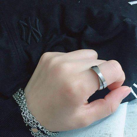 6MM couple série argent double anneau croix anneau en gros nihaojewelry NHIM234611's discount tags