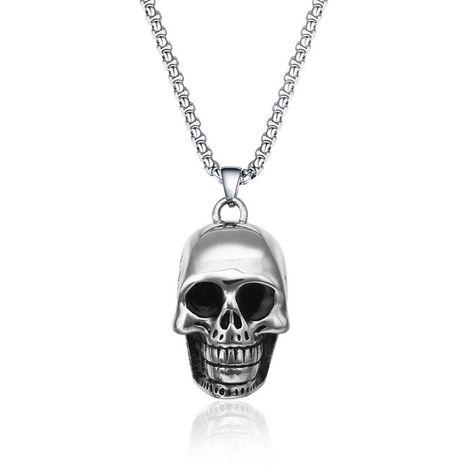 crâne de roche titane en acier pendentif mode punk en acier inoxydable à la mode pendentif collier en gros nihaojewelry NHIM234612's discount tags