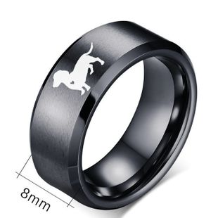 Venta caliente 8mm caring dog anillo de acero inoxidable anillo de cola al por mayor nihaojewelry NHIM234616's discount tags