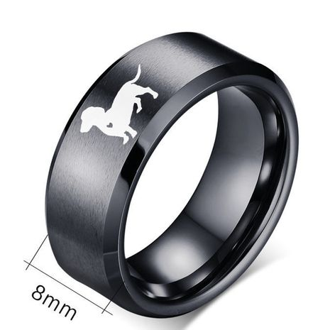 hot sale 8mm caring dog stainless steel ring tail ring wholesale nihaojewelry NHIM234616's discount tags
