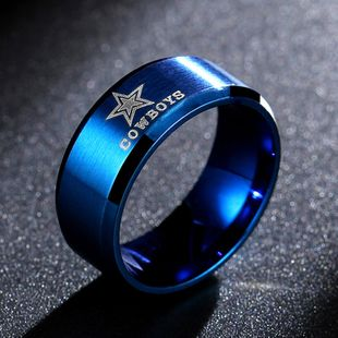 Dallas Cowboys anillo de cola de anillo de acero inoxidable venta caliente venta al por mayor nihaojewelry NHIM234619's discount tags