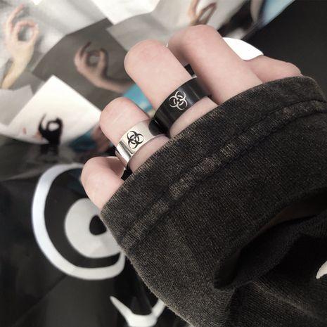 Rue risque biochimique standard anneau en acier inoxydable anneau hip-hop en gros nihaojewelry NHIM234620's discount tags