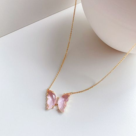 new exquisite crystal butterfly clavicle necklace retro simple pendant wholesale nihaojewelry NHIM234636's discount tags
