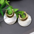 NHOM803078-Model-five-plated-real-gold-natural-shell-earring