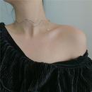 choker metal crystal diamond wave shape collar style necklace wholesale nihaojewelry NHYQ234688