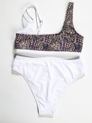 vente chaude sexy taille haute dames split couture maillot de bain coupe haute en gros nihaojewelry NHZO234703