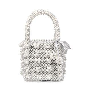new pearl bag woven handbag handmade beaded bag wholesale nihaojewelry NHYM234706's discount tags