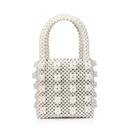 new pearl bag woven handbag handmade beaded bag wholesale nihaojewelry NHYM234706