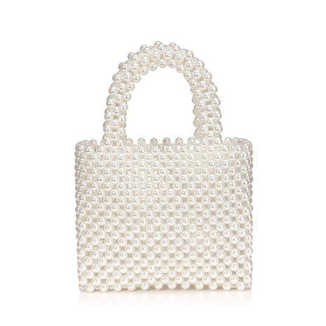 new ladies pearl bag fashion handbag hand-beaded woven bag wholesale nihaojewelry NHYM234707's discount tags