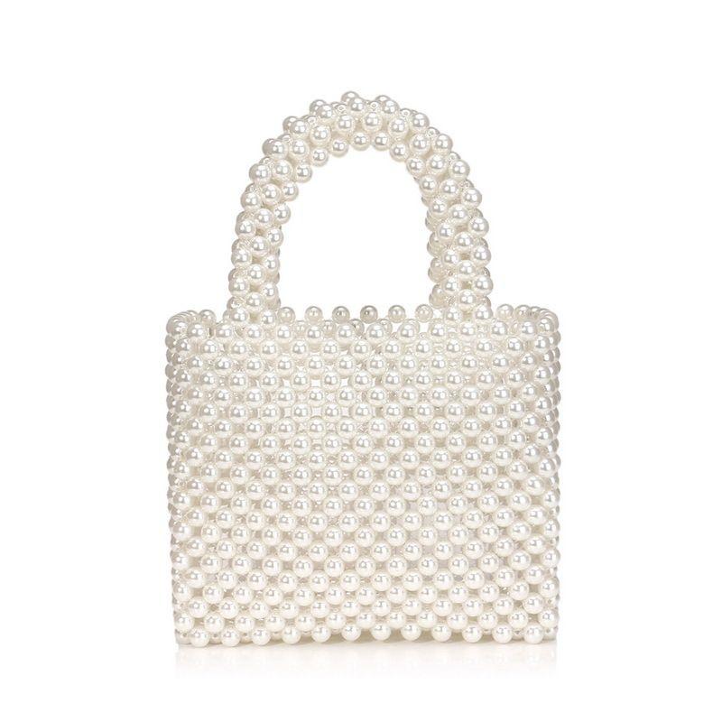 new ladies pearl bag fashion handbag hand-beaded woven bag wholesale nihaojewelry NHYM234707