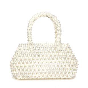 new pearl bag handbag hand-woven bag beaded bag wholesale nihaojewelry NHYM234713's discount tags