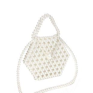 new pearl bag hand-woven bag portable messenger bag mobile phone bag wholesale nihaojewelry NHYM234716's discount tags
