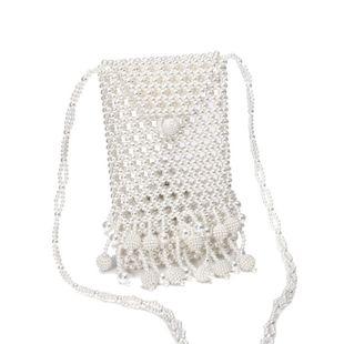 new pearl bag hand-woven beaded bag dinner diagonal bag wholesale nihaojewelry NHYM234721's discount tags