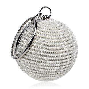 Fashion trendy women's handbags spherical banquet bags wear pearl bags wholesale nihaojewelry NHYM234725's discount tags