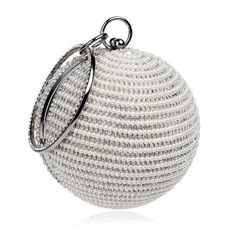 Sacs à main de mode pour femmes à la mode sacs de banquet sphériques portent des sacs de perles en gros nihaojewelry NHYM234725's discount tags