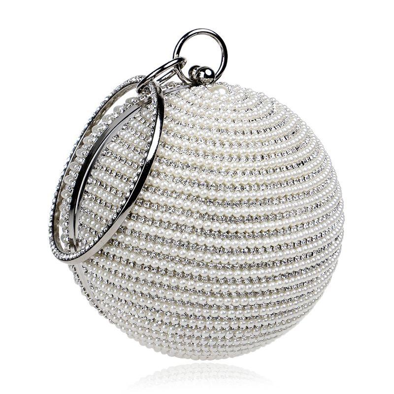 Fashion trendy women's handbags spherical banquet bags wear pearl bags wholesale nihaojewelry NHYM234725