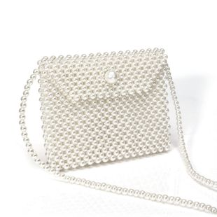 new fashion women's pearl bag hand-woven crossbody bag wholesale nihaojewelry NHYM234726's discount tags