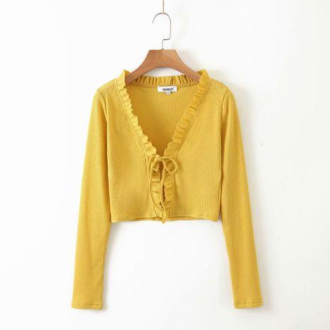 été début automne automne ébouriffé cardigan en tricot pour femmes en gros nihaojewelry NHAM234764's discount tags