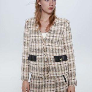 fashion summer tweed suit women's jacket wholesale nihaojewelry NHAM234778's discount tags