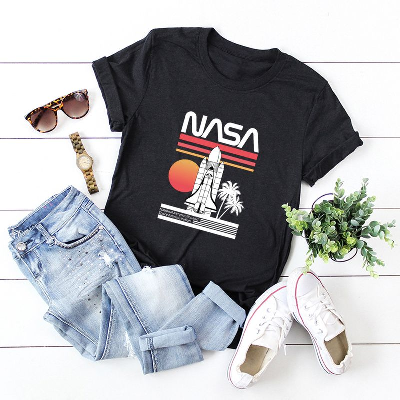 simple cotton comfortable shortsleeved Tshirt dark nasa space series Tshirt  wholesale nihaojewelry NHSN234829