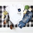 simple cotton comfortable shortsleeved Tshirt dark nasa space series  Tshirt wholesale nihaojewelry NHSN234836