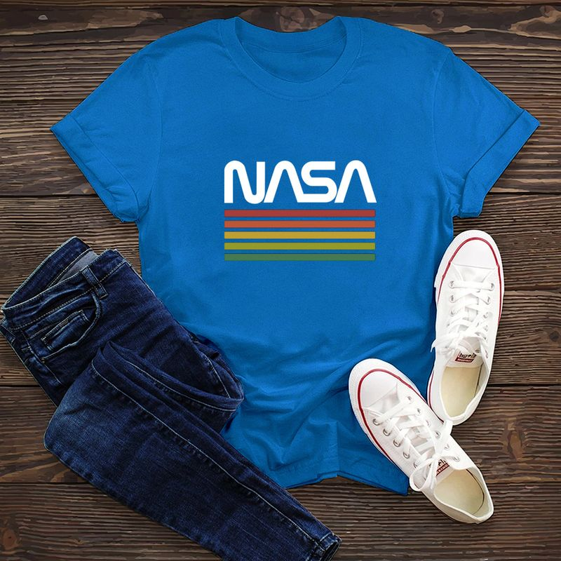simple cotton comfortable shortsleeved Tshirt dark nasa space series  Tshirt wholesale nihaojewelry NHSN234846