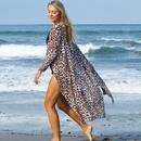 nouvelles nuances de lopard pois coton cardigan bikini crme solaire chemise cardigan en gros nihaojewelry NHXW234871