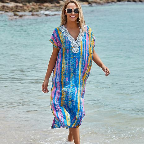 women New lace cotton dyeing robe beach sunscreen suit wholesale nihaojewelry NHXW234880's discount tags