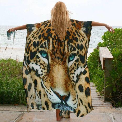 new four-sided elastic tiger cardigan belt beach sunscreen bikini wholesale nihaojewelry NHXW234886's discount tags
