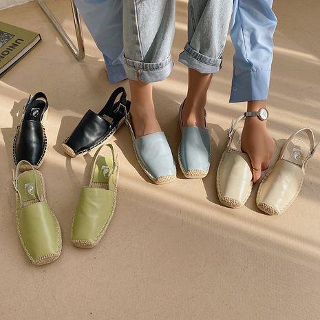 Coréen nouvelle mode automne paille baotou pêcheur chaussures plat femmes chaussures en gros nihaojewelry NHHU234900's discount tags