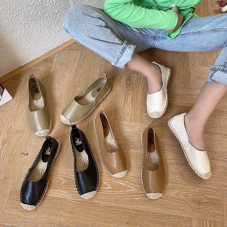 Coréen nouvel automne tissé à fond épais pêcheur chaussures pois chaussures une pédale plate chaussures pour femmes en gros nihaojewelry NHHU234903's discount tags
