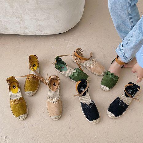 Automne coréen nouvelle mode boucle sangle bas sandales chaussures de pêcheur chaussures à fond épais en gros nihaojewelry NHHU234909's discount tags