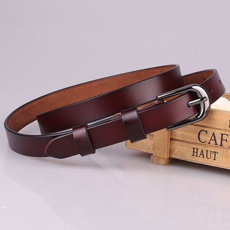Women's leather belt Korean fashion decorative belt casual pin buckle belt wholesale nihaojewelry NHJN234931's discount tags