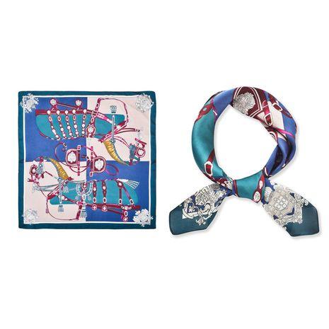 Petit carré britannique rétro mode écharpe foulards mince simulation soie décoration en gros nihaojewelry NHCJ234934's discount tags