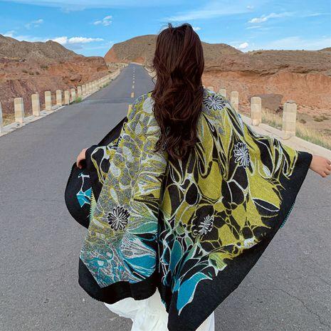 Gros châle femelle automne et hiver prendre protection solaire écharpe à capuche rouge style ethnique veste tricotée en gros NHCM234966's discount tags