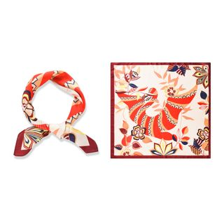 ethnic totem silk scarf thin section small square scarf  fashion retro scarf decoration simulation silk wholesale nihaojewelry NHTZ234972's discount tags