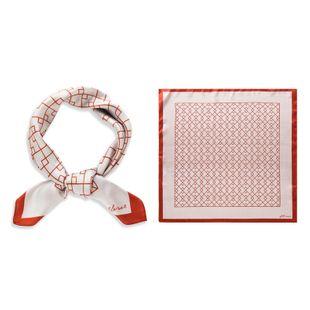 Korean small square fashion plaid thin scarf simulation silk scarf summer scarf wholesale nihaojewelry NHTZ234977's discount tags