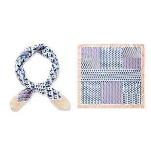 new fashion  ethnic geometric scarf female 70*70 square scarf retro small scarf wild simulation silk wholesale NHTZ234981's discount tags