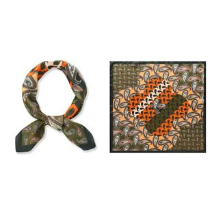 National style retro small square  new cashew flower color matching scarf wild decorative silk scarf  wholesale NHTZ234982's discount tags