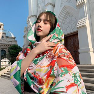 National style scarf new spring and summer cotton and linen printing tassel ladies shawl wholesale nihaojewelry NHTZ234991's discount tags