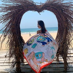 new cotton and linen ethnic wind elephant printing travel vacation ladies  shawl scarves wholesale NHTZ234998's discount tags