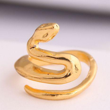 mode nouveau métal simple de bon augure serpent personnalité anneau ouvert en gros NHSC235729's discount tags