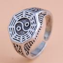 fashion new  retro simple Tai Chi pattern open ring wholesale  NHSC235721