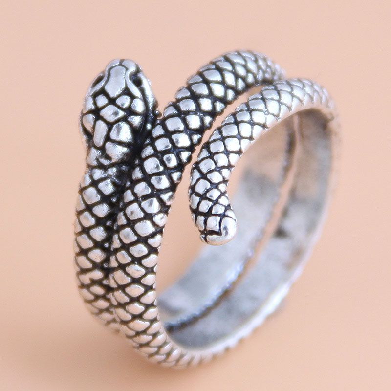 fashion retro simple auspicious snake personality open ring wholesale  NHSC235720