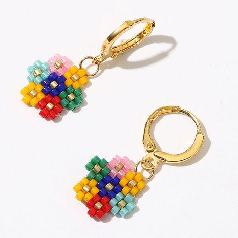 Creative trend MIYUKI handmade flowers rice beads earrings cute woven earrings jewelry wholesale nihaojewelry NHLA235067's discount tags