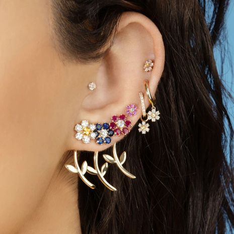 new wave summer solid color small daisy flowers earrings simple small earrings wholesale nihaojewelry NHLL235074's discount tags
